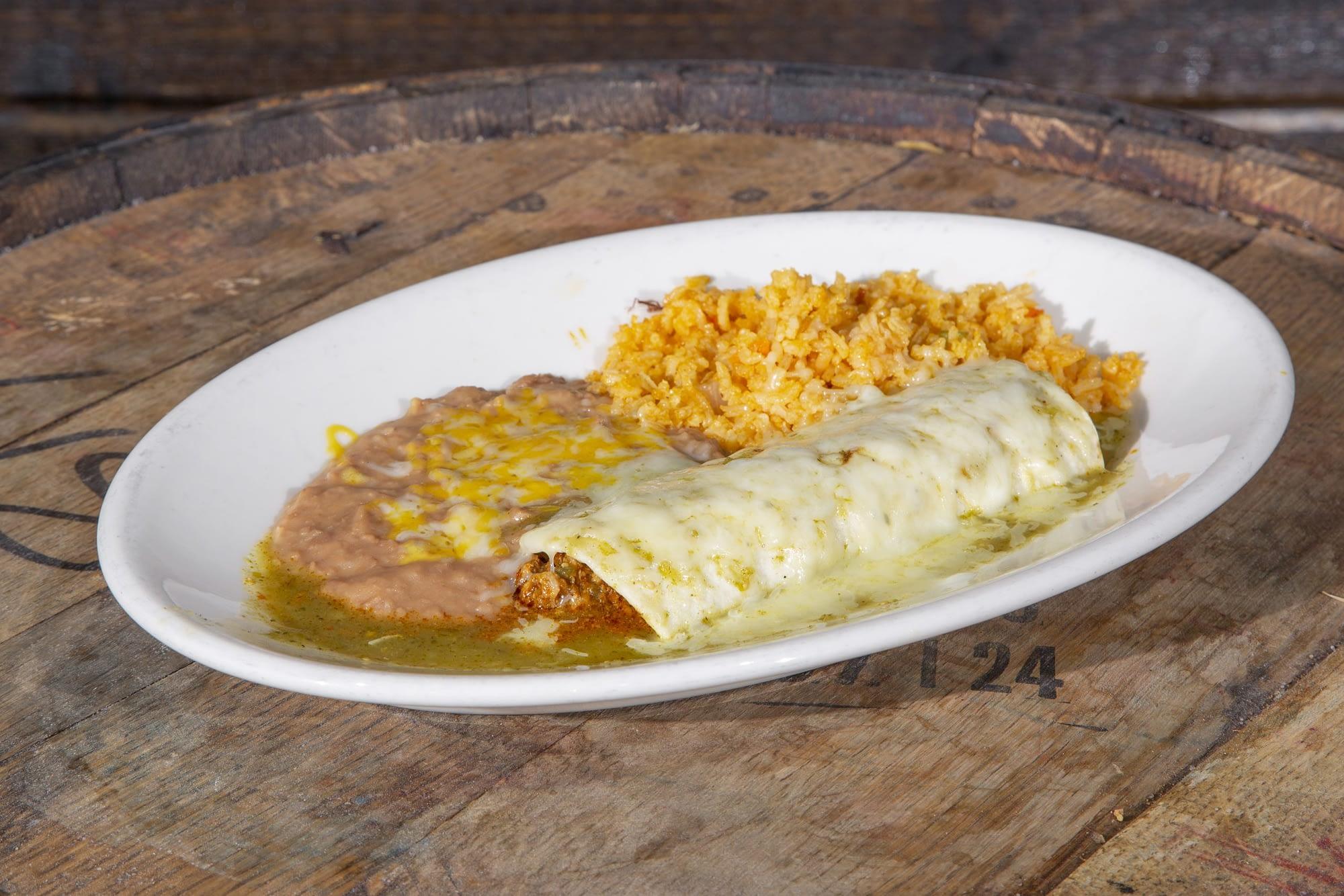 Wet Burritos With Green Sauce